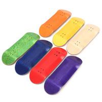 Wholesale Fingerboard Tape - Wholesale-Basic Wooden Fingerboard Professional Finger SkateBoard Wood Fingerboars With Bearings Wheel Foam Tape Set 7 Colours