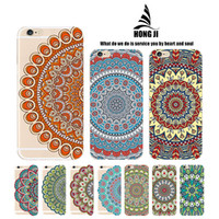 Wholesale Tribal Iphone Casing Wholesale - Newest Colorful Tribal totem plating Vintage Court Flower silicon rubber  hard plastic Back Cover Cases For iPhone 6 6 plus Phone 7 7plus