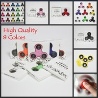 Wholesale Kid Packaged Toys - 2017 High Quality Hand Spinner Fidget Spinners 8 Colors EDC Hand Spinner in Retail Packaging Acrylic Plastic Depression Toys Gyro Toys DHL