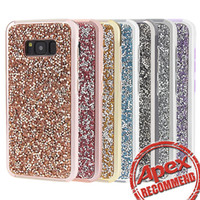 Wholesale Premium bling in Luxury diamond rhinestone glitter back cover phone case For iphone s plus Samsung s8 note cases