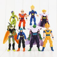 Wholesale dragon ball z frieza - 8pcs Dragon Ball Z Frieza Piccolo Vegeta Trunks Son Gohan goku Kuririn PVC Action Figure Collection Model Toy
