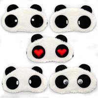 Wholesale Child Sleep Mask - Wholesale-1pcs Fashion Panda Sleeping Eye Mask Nap Eye Shade Cartoon Blindfold Sleep Eyes Cover Sleeping Travel Rest Patch Blinder