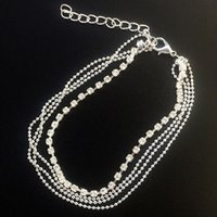 Wholesale Crystal Rhinestone Charm Drop Ankle Chain Bracelet Anklet Wedding Jewelry ns242