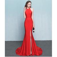 коктейльные платья оптовых-Красивое красное высококачественное вечернее вечернее платье на заказ 2017 новый спандекс, платье Mermaid Dress для коктейля