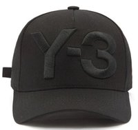 Wholesale Baseball Caps Embroidered Logo - 2017 New Y-3 Dad Hat Big Bold Embroidered Logo Baseball Caps Adjustable Strapback Hats Y3 bone Snapback sports Casquette visor gorras cap