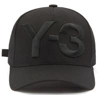Wholesale Bone Logos - 2017 New Y-3 Dad Hat Big Bold Embroidered Logo Baseball Caps Adjustable Strapback Hats Y3 bone Snapback sports Casquette visor gorras cap