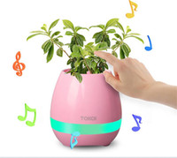 Wholesale free office music - Creative Smart Bluetooth Speaker Music Flower Pots Home Office Decoration Green Plant Music Vase Music Green Plant Touch Induction DHL FREE