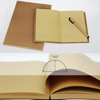 Wholesale Book Arts Supplies - Wholesale- 32K 16K Vintage Sketch Book Notebook Notepad Sketchbook for Paiting Drawing Blank Page Diary Journal Creative Gift Arts Supplies