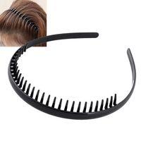 metal alice venda por atacado-Ns mens metal dentada esportes futebol futebol headband alice banda black # r49