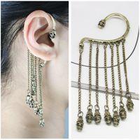 Wholesale Silver Skull Earrings Women - Jmyy Jewelry Women Skull Ear Cuff Alloy Vintage Ear Cuff Antique Silver Bronze Color Fashion Earrings