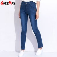 Wholesale Clothing For Moms - Mom High Waist Jeans Elastic Spring Plus Size Female Jeans Bordados Denim Pants Stretch Classic Clothing For Women GAREMAY 1710