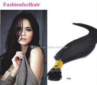 "Wholesale Chinese Stick For Hair - Stick Human Hair 18"" -24"" Keratin Hair Extensions 100% Indian Remy Human I Tip Hair Free Shipping For Beautiful Ladies"