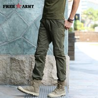 Wholesale Green Twill Fabric - Wholesale- Straight Design Summer Pants Detachable MutiFunction Mens Fashion Army Pants Solid Green Anti-inset Fabric Man Trousers MK-718