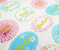 Wholesale party paper wrap - Thank you wedding favors guest gifts seal sticker gift wrapping sealing labels packaging labels wedding party decorations 24pcs lot