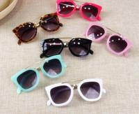 Wholesale Baby Sunglasses Wayfarer - Children sunglasses fashion kids goggles kids leopard Uv Protection wayfarer accessories baby girls boys sun-shading eyeglasses T4785