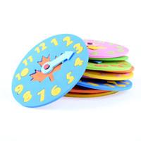 yapboz bebek toptan satış-1 ADET Çocuklar DIY Eva Saat Öğrenme Eğitim Oyuncaklar Çocuklar için Eğlenceli Bilmecenin Oyunu Bebek Oyuncak Hediyeler 3-6 yaşında