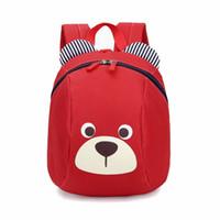 linda mochila de guarderia al por mayor-De edades 1-3 mochila para niños Anti-lost kids baby bag animal lindo perro niños mochilas kindergarten school bag mochila escolar