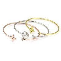 Wholesale Stainless Steel Clover Bracelet - New Fashion Stainless Steel Love Bracelets Bangles for Women Jewelry Wholesale Single Drill Female Four Leaf Clover Bracelet