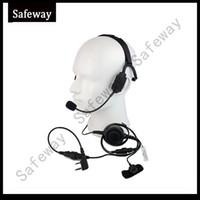 Wholesale Baofeng Radio Mic - Military Bone Conduction Tactical Headphone Headset with boom mic for Kenwood baofeng UV-5R wouxun two way radio