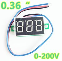 0.36 Zoll 3 Drähte Mini Digital Red LCD Display Voltmeter Auto Spannung Volt Panel Monitor DC 0-200V