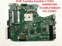 Wholesale Amd Motherboard Satellite - High quality laptop motherboard for Toshiba Satellite L755D A000081500 DA0BLFMB6E0 Socket FS1 DDR3 100% Fully tested