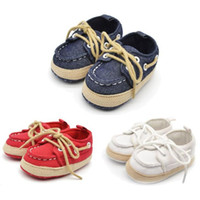 Wholesale Learning Walkers For Babies - Wholesale- Infant Kid Sneaker Toddler Shoes perfect for learning walk baby shoes first walker Denim newborn shoes sapatos infantis Krystal