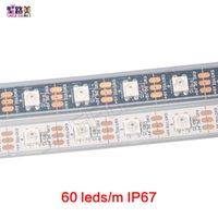 traumfarbe geführtes streifen ip67 großhandel-60 LEDs / m 2812B Pixel Digitale Dream Color Flexible LED-Streifenleuchte WS2812 Pixelstreifen, weiß / schwarze Leiterplatte, wasserdicht oder nicht wasserdicht IP67 / IP20