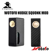 Wholesale Electronic Cigarette Plate - Electronic Cigarette Mods Original Wotofo Nudge Vape Squonk Mod 510 GOLD PLATED threaded connection with 7ml PET Food Grade