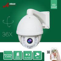 Wholesale Hd Outdoor Security Cameras Ptz - ANRAN Onvif HD Pan Tilt Zoom 1080P PTZ 36XZoom Array IR Outdoor IP66 Waterproof Outdoor Home Security CCTV IP Camera 4.6mm-165mm