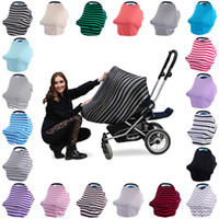 Wholesale High Chair Seat Covers - Multi-Use Baby Car Seat Cover Canopy Nursing Breastfeeding Shopping Cart High Chair Cover INS Stroller Sleep By Cover