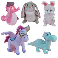 Wholesale Stuffed Princess Toy - Princess Animals Crackle Sven Minimus Clover Ginger Stuffed Plush Toy, Movie Action Figures Kids Doll Gift Free Shipping