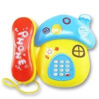 Wholesale Children S Mushroom Toys - Children 's puzzle early childhood education phone baby infant cartoon mushroom music telephone wholesale free shipping