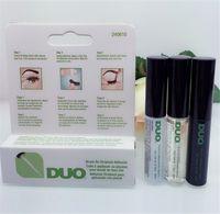 Wholesale Vitamin Free - Brand DUO Eyelash Adhesives Eye Lash Glue brush-on Adhesives vitamins white clear black 5g New packaging makeup tool free DHL