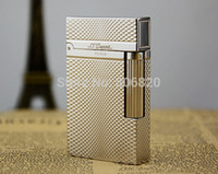 Wholesale New Gas Cigarette - Wholesale-S.T Memorial Dupont lighter Bright Sound! New In Box silver Serial number #C126