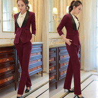 Wholesale Working Pants - work wear women's blazer suit 2017 New summer fashion long-sleeve V-neck female blazers and jackets plus size office suit S-3XL