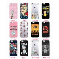iphone 5s vakaları komik toptan satış-IPhone 7 7 Artı 6 S 6 Artı 5 S Se SAMSUNG Rick Ve Morty Komik Karikatür Komik Meme Yumuşak Temizle Telefon Kılıfı Fundas Coque