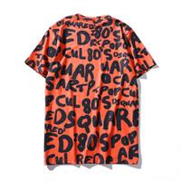 ingrosso vestiti emoji-grafico Emoji Lettera stampato 3D manica corta in cotone Tee pullover mens moda vestiti girocollo T-Shirt Spedizione gratuita