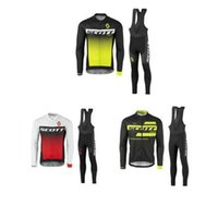 Wholesale Scott Short Sleeve Bike Cycling - Long Sleeve SCOTT cycling jersey Tour de France Spring and Autumn Bisiklet wear bike maillot ropa ciclismo Bicycle MTB clothes