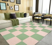 Wholesale Small square stitching the carpet living room rug mat simple modern glue self adhesive kitchen stepping mat