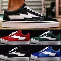 Wholesale Old Pvc Women - (with box) Revenge X Storm old skool Classic black white red blue green light men and women Casual Shoes sneakers skateboard shoes size36-44