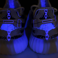 Wholesale Glowing Uv - Zebra 350 V2 Boost UV Glowing Shoes New Arrive,Shop Sply 350 White Core Black Red Running Sneakers for Men & Women With Box
