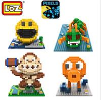 Wholesale Plastic Octopus Toy - LOZ Pixels Figure Building Blocks Toy Pacman Quiz gift Orangutan Octopus Chilopod Assemblage Toy Offical Authorized Distributer 9617-9620