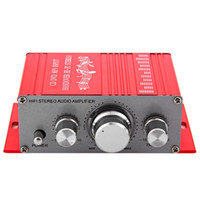 Wholesale Mini Stereo Sound Digital Power - HY - 2001 Hi-Fi Mini Digital Motorcycle Auto Car Stereo Power Amplifier Sound Mode Audio Support DVD MP3 163479501