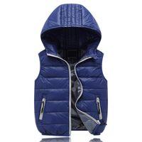 Wholesale Girls Hood Down Coat - 2017 Autumn winter children clothes new girls Outerwear&Coats Animal Graffiti hooded Girls Vest Jackets Baby Girl Warm Waistcoat