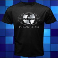 Wholesale Cheap Hip Hop T Shirts - New Wu-Tang Clan Forever Rap Hip Hop Music Black T-Shirt Size S M L XL 2XL 3XL Short Sleeve Cheap Sale Cotton T Shirt