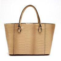 Wholesale Crochet Unique Fashion - 2017 New best leather Crocodile pattern bag luxury noble shoulder bag unique fashion vogue handbag bag vintage Ladies Large luxury Tote