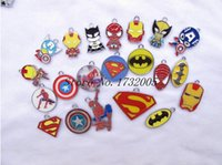 Wholesale Avengers Jewelry - Wholesale mixed the Avengers DIY Metal pendants Charms Jewelry Cartoon surrounding Making Gifts htie2