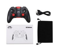 New Gen Game S6 Deluxe Gamepad inalámbrico Bluetooth Joystick Gaming Controller para Android Smartphone Holder Incluido Negro / Blanco