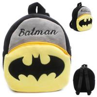 ingrosso borsa del bambino del batman-Zaino peluche di cartoni animati per bambini Batman mini bag bambino carino Bat Man zaino piccolo zainetto studenti bookbag regalo per bambini