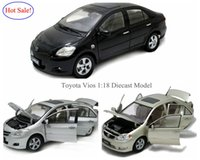 Big Sale Brand News Diecast modelo de carro para Toyota Vios 1 18 Scale Vehical Collection Brinquedos 3 cores por atacado e varejo por PaudiModel